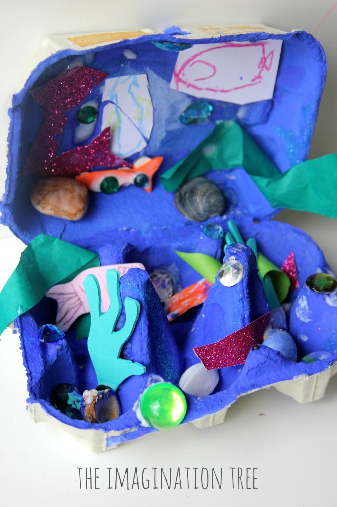 Under the sea egg carton craft