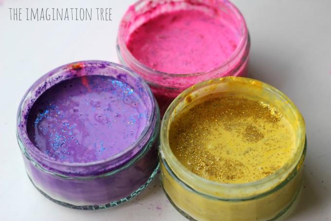 DIY glitter paints