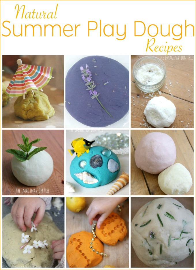 Natural summer play dough recipes