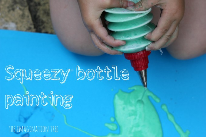 Squeezy bottle painting for kids