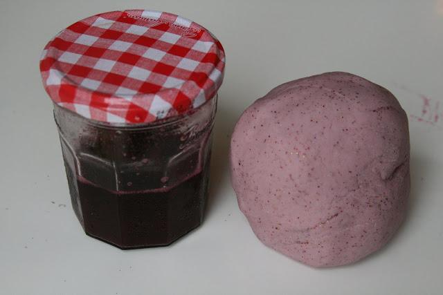 blueberry play dough recipe