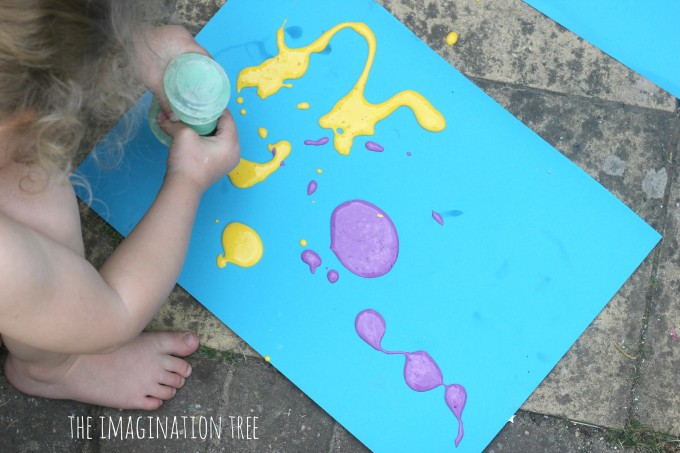 painting with icing bottles