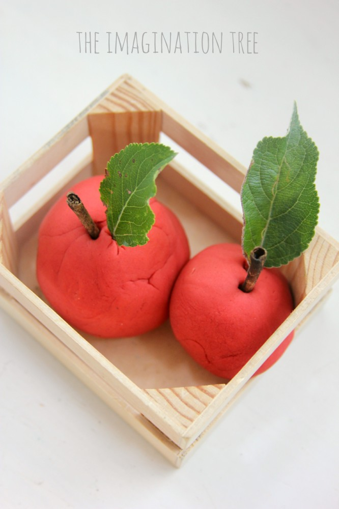 Apple play dough recipe