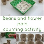 Beans and flower pots counting activity