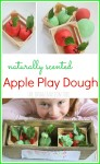 DIY no-cook apple play dough recipe. This smells wonderful!