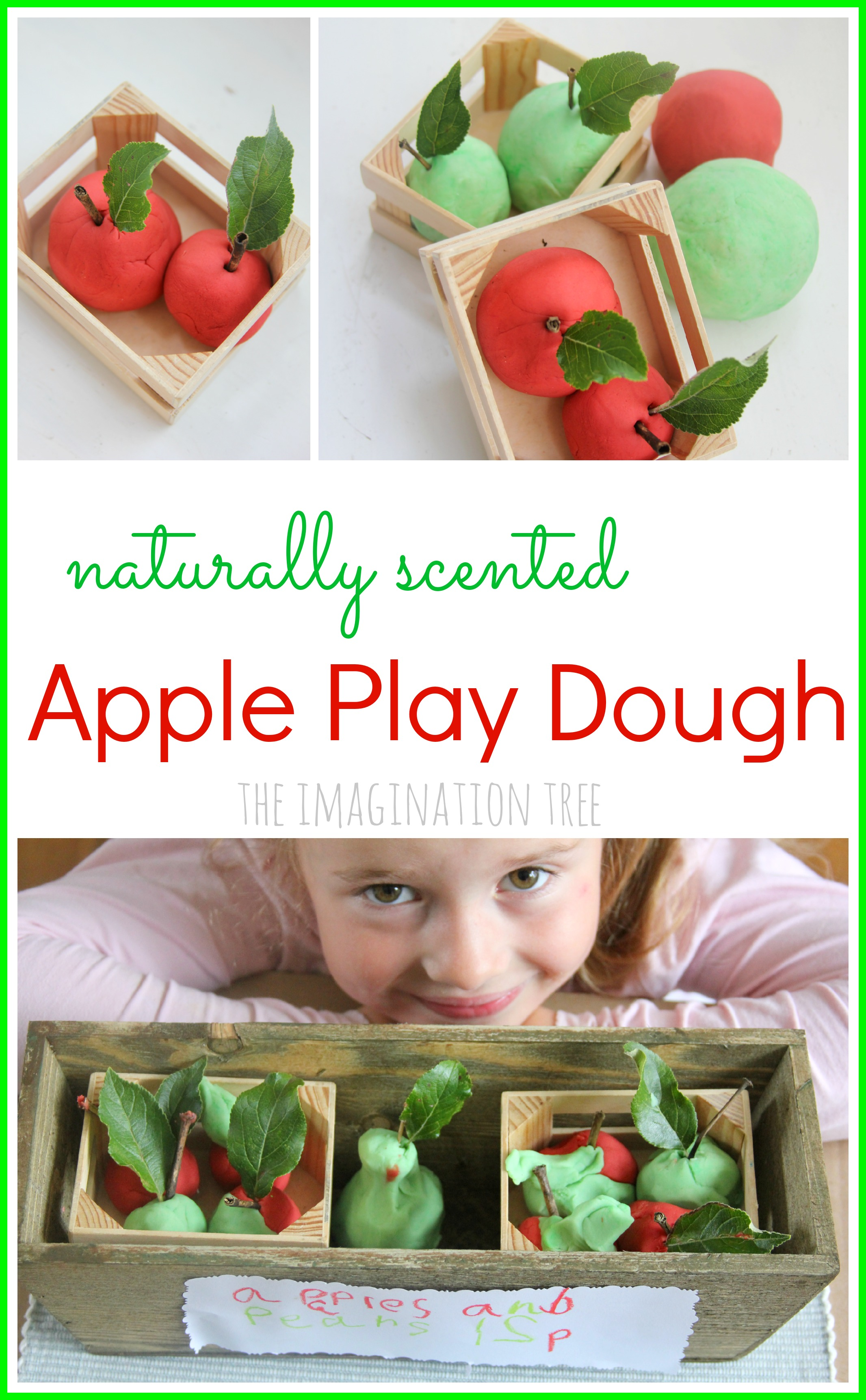 No Cook Apple Play Dough Recipe The Imagination Tree