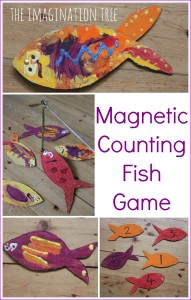 Magnetic counting fish game for preschoolers