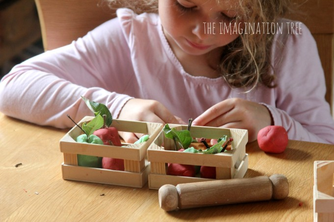 Scented apple play dough recipe