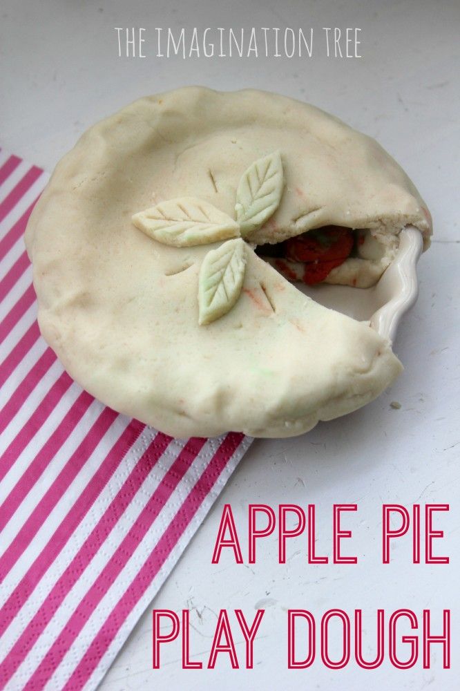 Apple pie play dough!