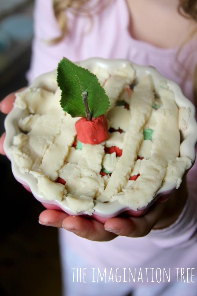 Apple pie play dough activity