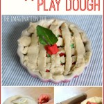 Apple pie play dough making activity