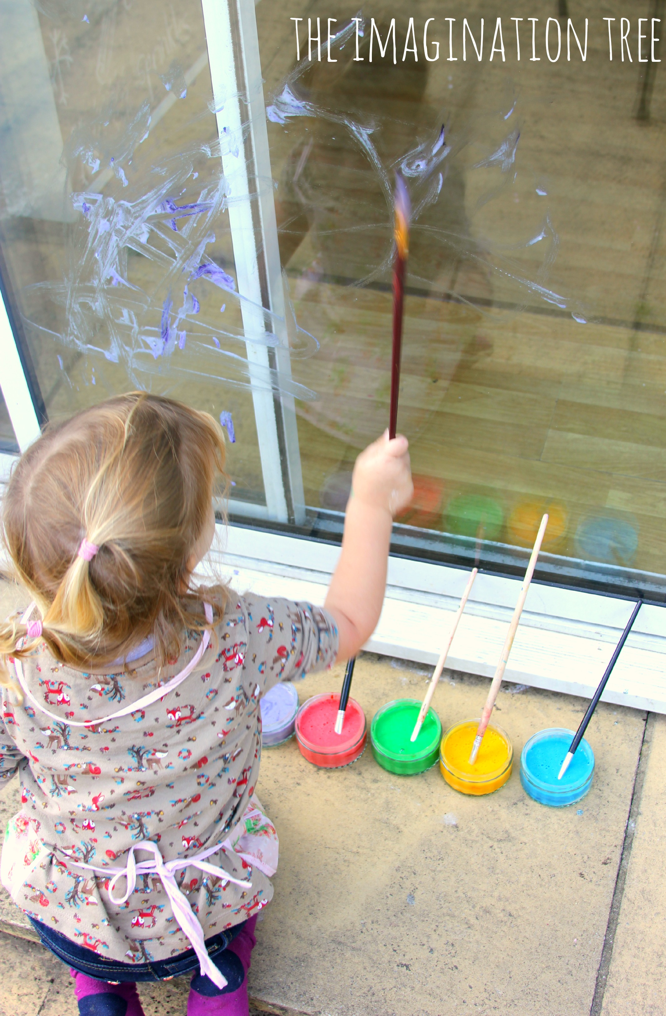 Diy Window Paint Recipe The Imagination Tree