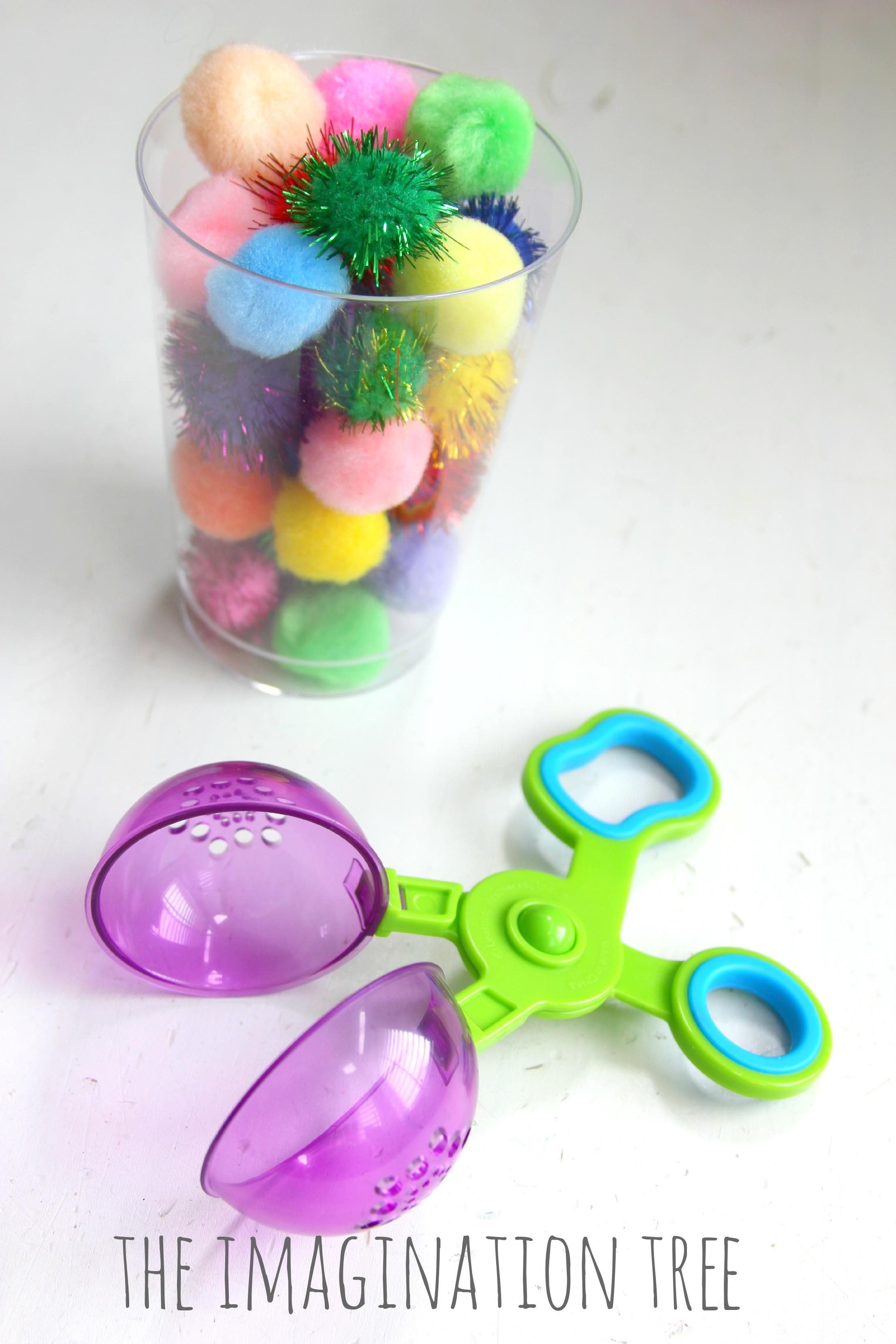 Fine Motor Toys : Fine motor game for preschoolers pom races the