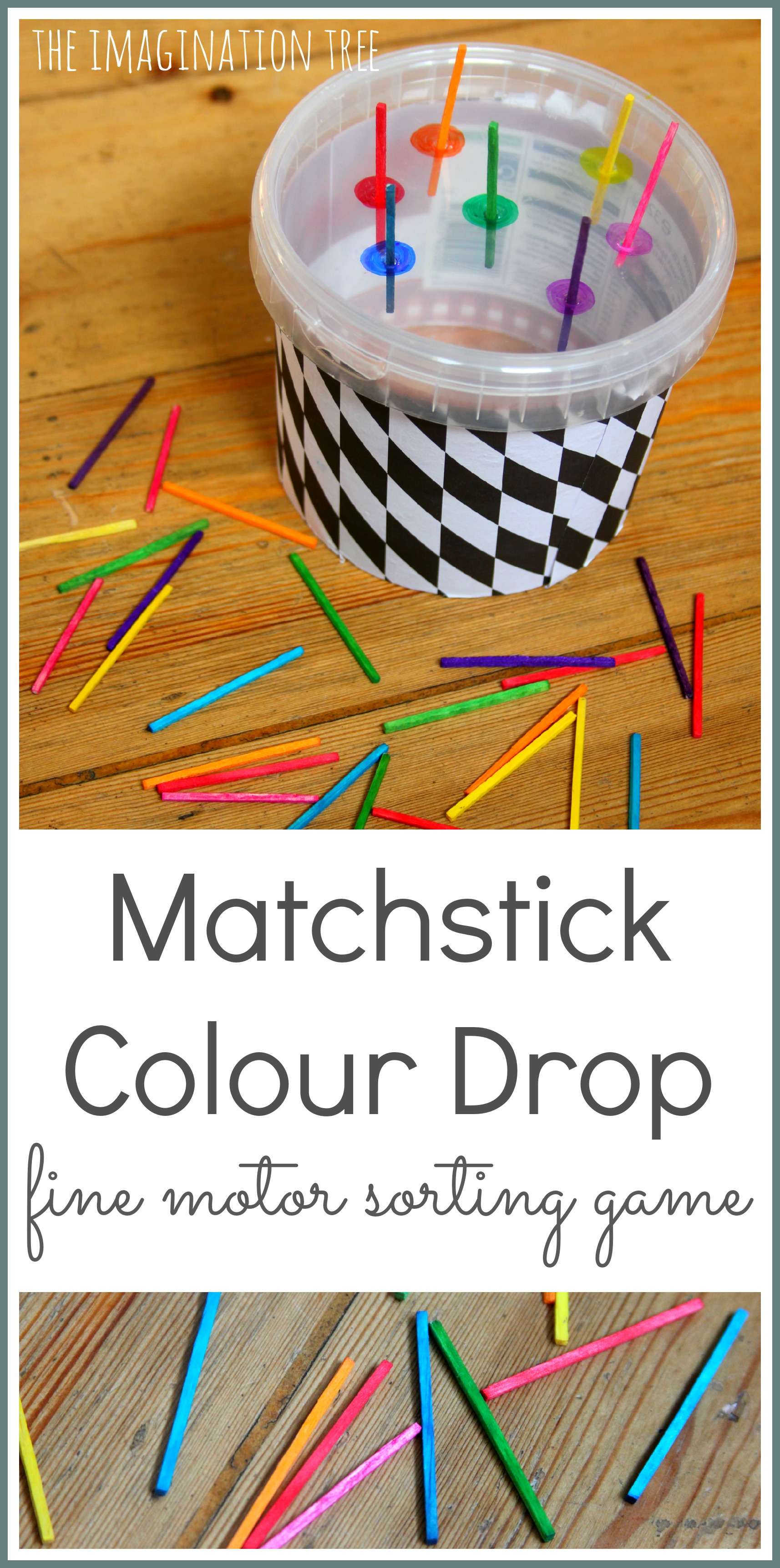 matchstick colour sorting fine motor toy the imagination tree. Black Bedroom Furniture Sets. Home Design Ideas