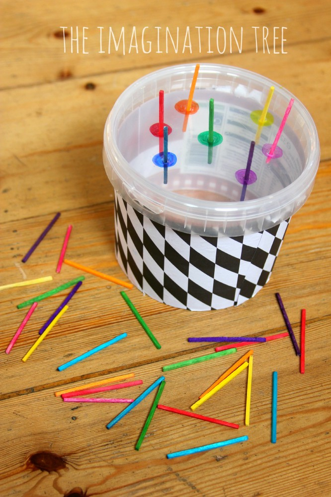 Match stick colour sorting game