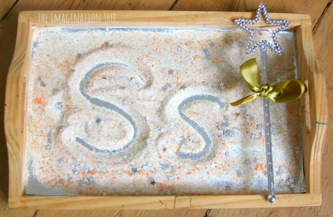 Stardust sensory writing tray