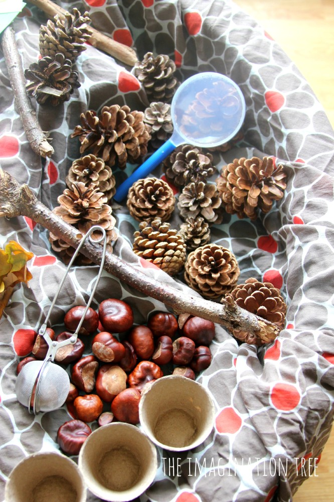 Autumn sensory table