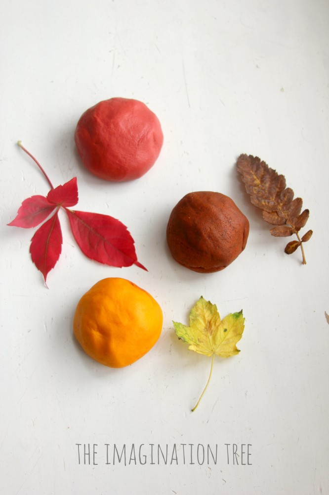 Autumn spices salt dough recipe