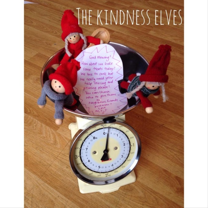 kindness elves baking for friends