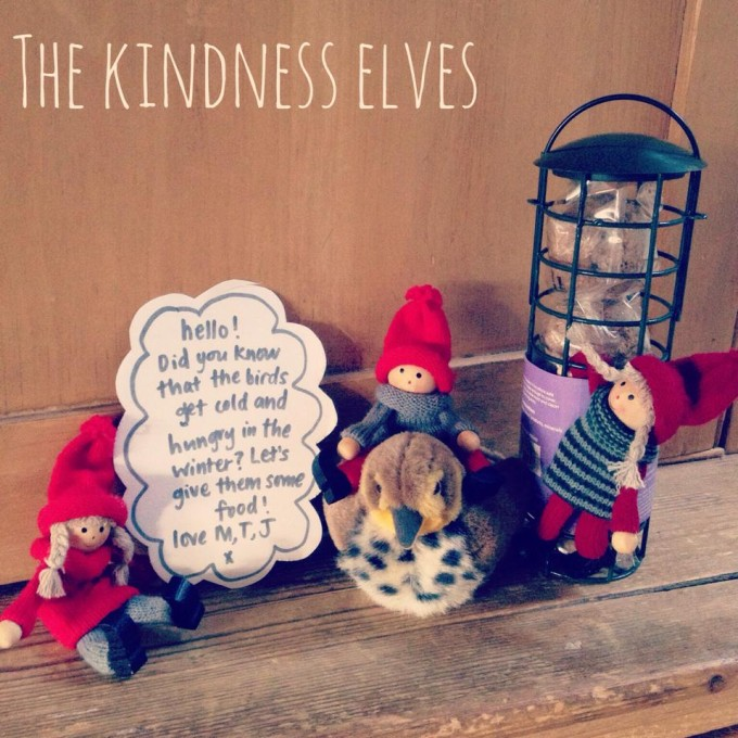 kindness elves birdfeeder