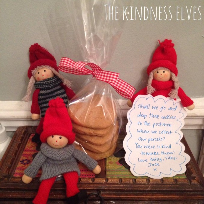 kindness elves cookies for postmen