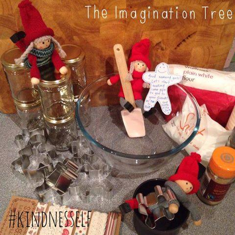 kindness elves gingerbread play dough gifts