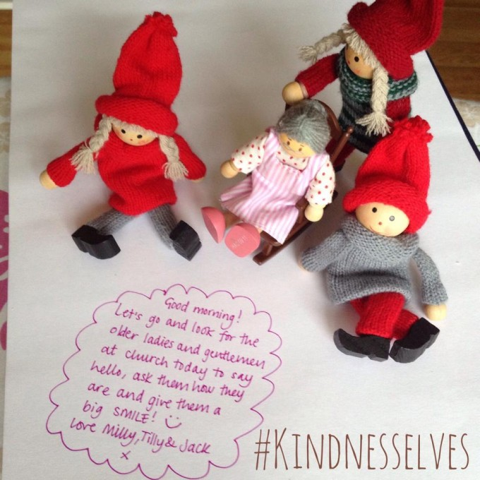 kindness elves love for elderly folk