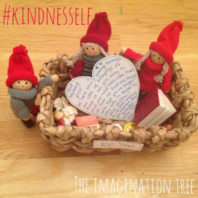 kindness elves sorting and donating toys