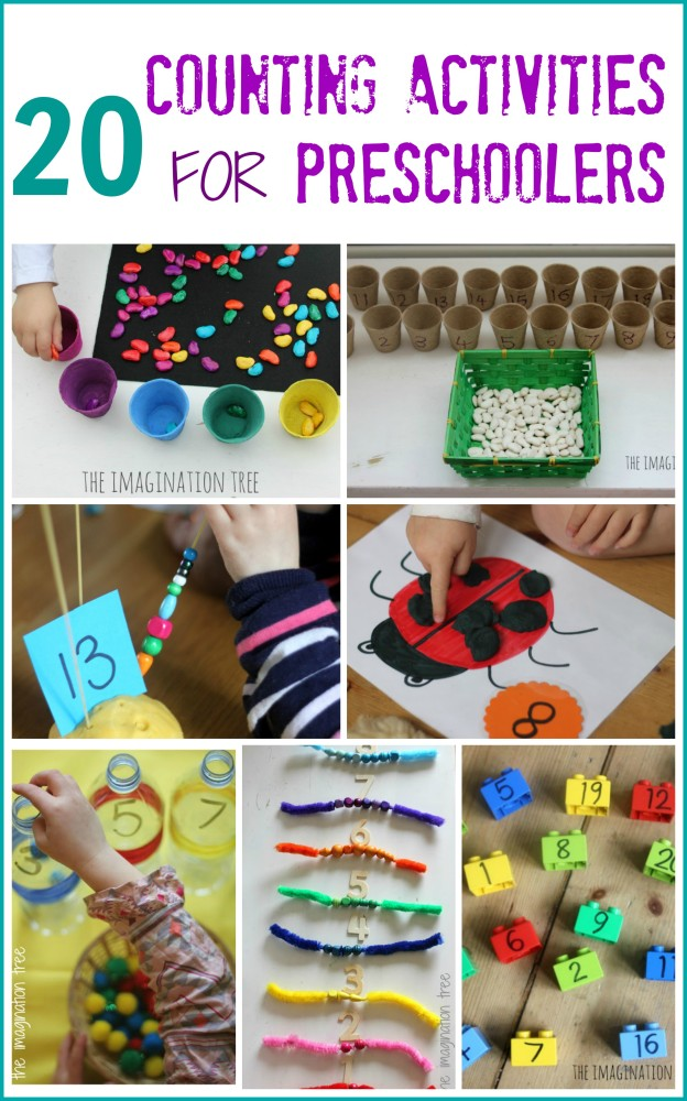 Here are 20 counting activities for preschoolers and school aged kids ...