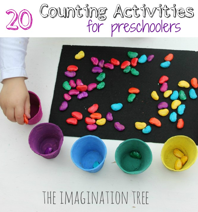 Worksheets Numbers And Counting Activities For Preschoolers 20 counting activities for preschoolers the imagination tree and games preschoolers