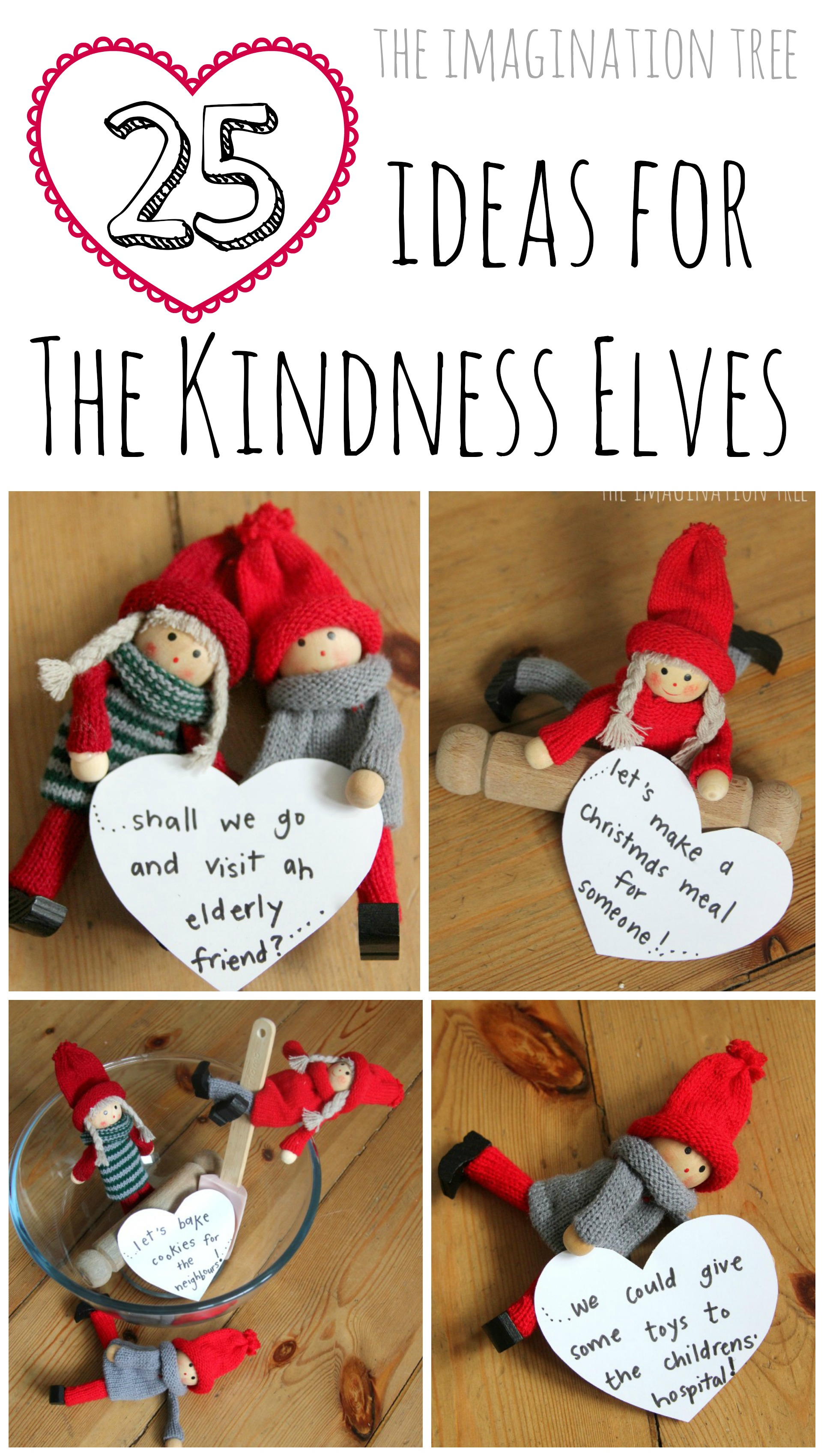 25 ideas for the kindness elves the imagination tree for Elf shelf craft show