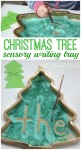 Christmas tree sensory writing tray