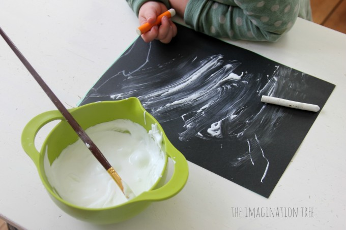 Snow puffy paint activity