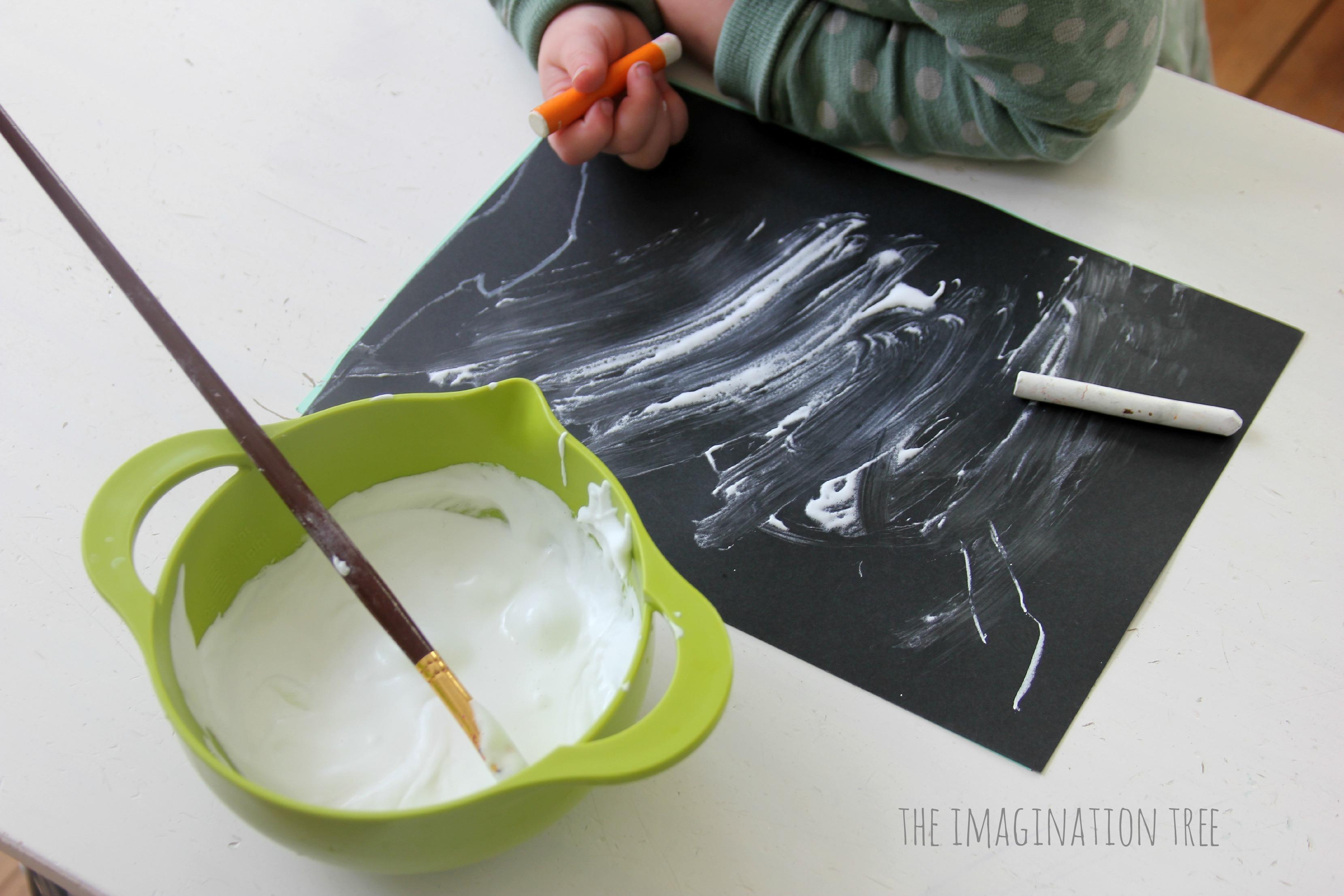 Snow Puffy Paint Recipe The Imagination Tree