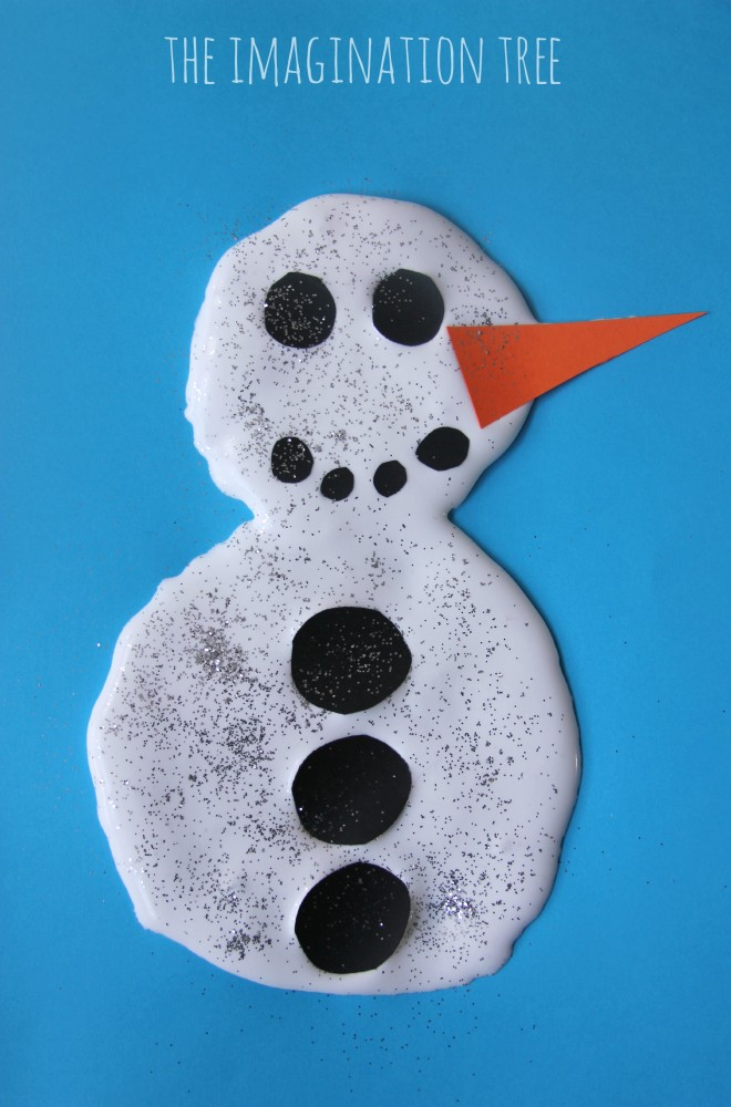 Snow puffy paint snowman activity
