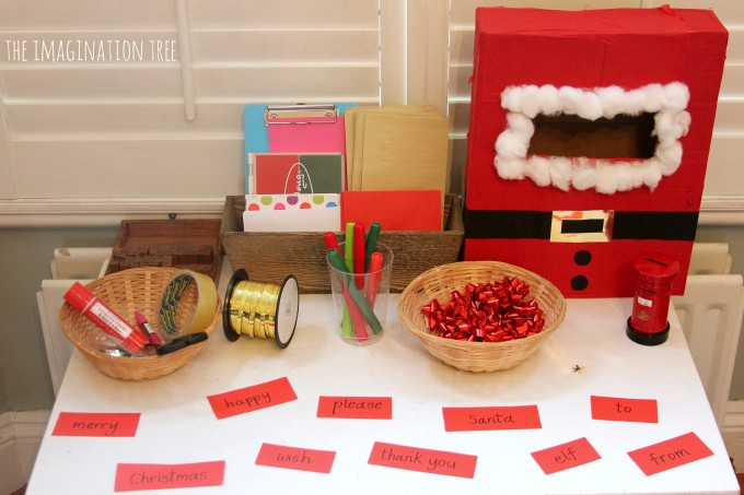 Christmas writing table for kids