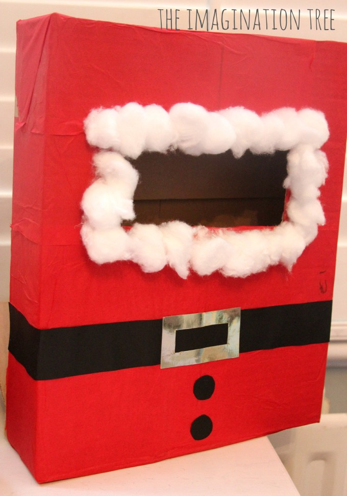 Santa mail box for literacy play