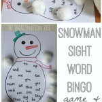 Snowman Sight Word Bingo Craft