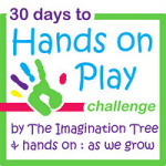 30 Days to Hands on Play: Sticky Art!