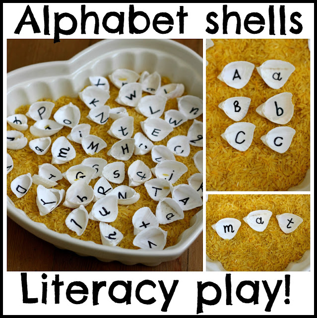 Alphabet Shells Playful Literacy Games