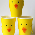 Spring chick snack cups for Easter
