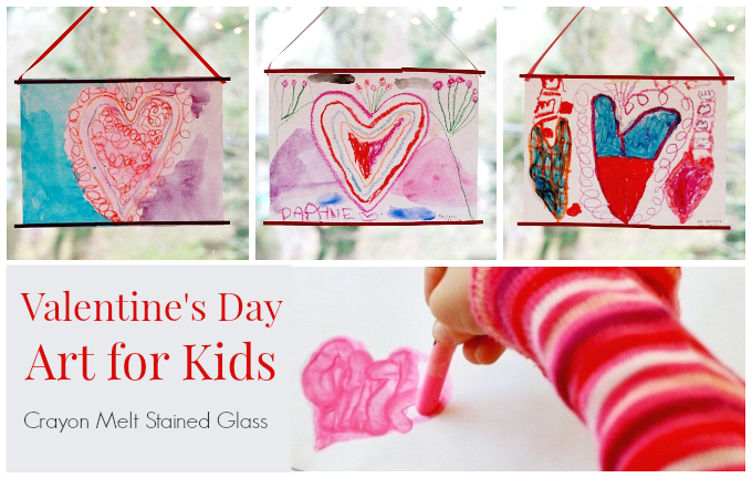 Crayon Melt Valentine S Day Art For Kids The Imagination Tree