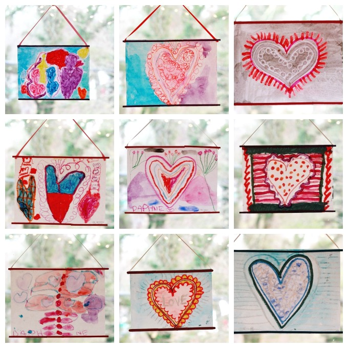 Crayon Melt Valentines Day Art for Kids - Stained Glass Gifts