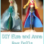 DIY Elsa and Anna Peg Dolls from Frozen