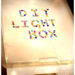 DIY Light Box for Sensory Play