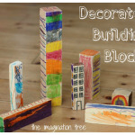 Decorated Building Blocks for Construction Play