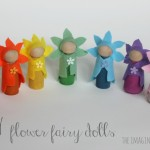 DIY Flower Fairy Wooden Peg Dolls
