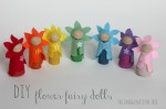 DIY Flower Fairy Wooden Peg Dolls