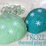 Frozen Themed Play Dough Activity