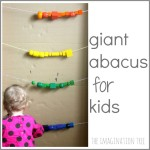 Giant Bead Abacus for Counting and Addition